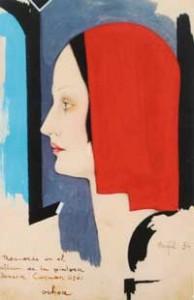 Enrique Ochoa - Perfil de mujer, 1934 - Col. Fundación Pintor Enrique Ochoa